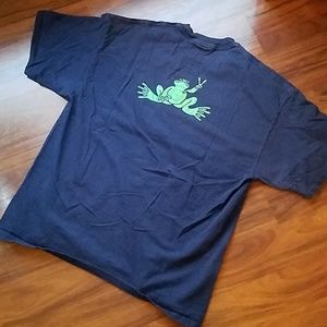 Peace Frogs Navy Blue Graphic T Shirt SZ XL